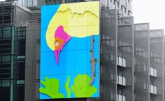 The Pecking Bird Public Art by world-renowned artist Gary Hume will you leave you wide-eyed surely!!!  Read here for full information: http://bit.ly/1wD7dqi  #NESsolutions  #digitalart   #mindblowing