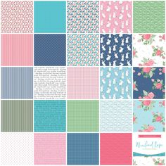 Winifred Rose Fat Quarter Bundle by Christopher Thompson - Riley Blake Fabrics Christopher Thompson, Block Of The Month, Charm Pack, Riley Blake, Fat Quarters, Quilt Top, Fun Prints, Delicate, Charmed