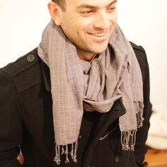 Double breasted pea coat matched with a handwoven scarf. Match made is heaven. Match Making, Pea Coat, Double Breasted, Hand Weaving, Heaven, Men Sweater, Sweaters, Fashion, Moda