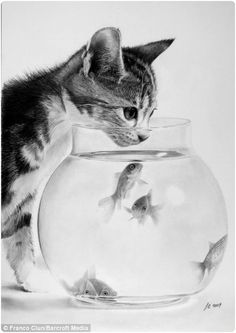 Realistic Pencil Drawings of Animals (22 Pictures) This must have taken a LONG time to draw.  Look at all the shading!!