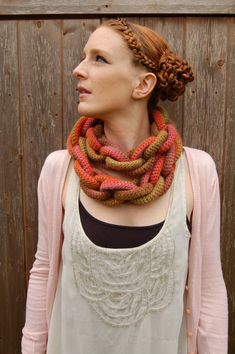 Harvest Hoopla Crochet Scarf FREE SHIPPING by Jesuisunemonstre, $218.00 (Just cool, not a realistic purchase in my book)