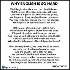 Now try teaching English to children whose first language is not English...