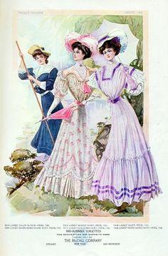 Vintage fashion: Edwardian Era, 1900s