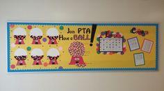 PTA membership, back to school bulletin board