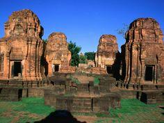 Khmer Ruins at Prasat Meuang Singh Historical Park (Lion City), Thailand