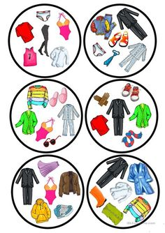 Clothes dobble game - English ESL Worksheets for distance learning and physical classrooms English Activities, Vocabulary Activities, Preschool Worksheets, Learning Activities, Printable Worksheets, French Lessons, English Lessons, Spanish Lessons, Teaching French