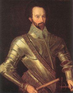 Sir Walter Raleigh, c.1590. Handsome devil!
