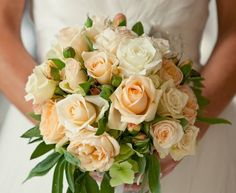 The soft pastel of Peach+ and the bright white of classic Avalanche+® really set the tone for this rose bouquet. Avalanche+® roses have gorgeous buds that always fully open, they're truly worth their majestic nickname Queen of Roses.  https://www.facebook.com/?q=#!/avalancheroses
