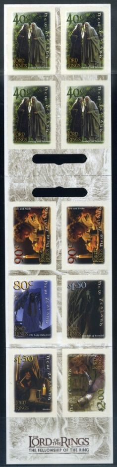 NZ Error Lord of the Rings Booklet $9.00 CP W86a, 100% imperf, no impressions, only 2 known, 2001, unlisted in CP Catalogue, popular theme, great error imperforated booklet