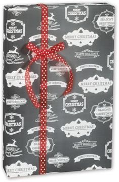 Holiday Gift Wrap – Chalky Christmas Gift Wrap, 30″ x 100′ (1 roll) – BOWS-C-CHLK Review