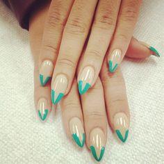 green V french - Nail Art Gallery
