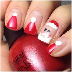 Instagram media by allnailedup_ - It's December 1st! U know what that means...#ChristmasNails! #Santa #SantaHats