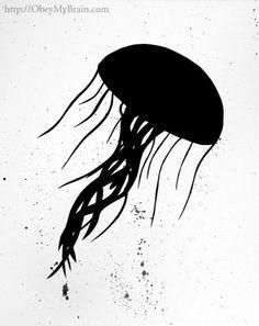 Josh Freeman - Jellyfish #silhouette