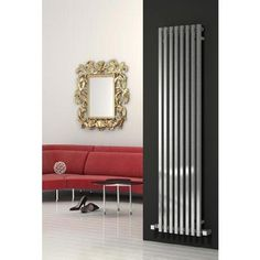 #radiators The Reina Cascia Vertical Steel Designer Radiator - Chrome - 1800 x 400mm is available to order to online with BSO  The Cascia vertical designer radiator is stylish with its contemporary square tubed design. Engineered by Reina, this functional radiator is crafted from durable steel and comes finished in chrome. Comes with a 5 year guarantee against manufacturing defects.