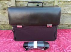 """Brown Leather 15.4"""" Laptop Bag A4 Portfolio Business Work Briefcase RRP £79.99 in Clothes, Shoes & Accessories, Men's Accessories, Bags 