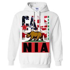 California Republic Patriotic USA Flag Sweatshirt Hoodie