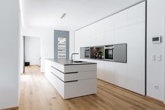 design overall concept FL Kitchen Cabinet Door Styles, Kitchen Cabinet Design, Kitchen Interior, Kitchen Decor, Villa Design, Design Design, Open Kitchen And Living Room, White Countertops, Black Kitchens