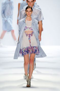 Richard Chai Love s/s 2013 #nyfw - florals and cutouts