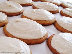 Pumpkin Cookies with Cinnamon Cream Cheese Frosting (made over 60 cookies - could have done with a half batch!)  Also I took out half the butter and replaced it with the same amount in canola oil.  yum! yum!