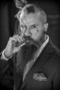 Pete Anthony Stevens by Anton Rothmund Beard Logo, Beard Tattoo, Portrait Photography Men, Photography Poses For Men, Hipster Beard, Hipster Man, Beard Styles For Men, Hair And Beard Styles, Moustache