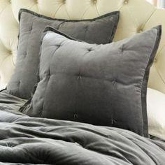 Charron Velvet Pickstitch Quilt | Ballard Designs $150 (teal color)