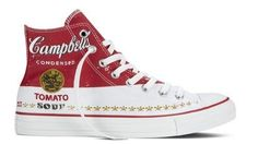 Warhol's famous  artistic creations were transplanted onto the sneakers in collaboration with the Andy Warhol Foundation and features iconic images such as Warhol's Campbell's Soup portrait and newspaper clippings.