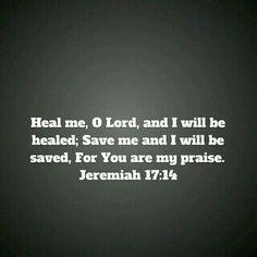 Heal me, Save me O Lord