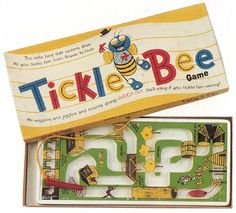Vintage Schaper Tickle Bee game - magnetic game...you move the bee along with the magnetic wand.