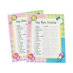 """Looking for a baby shower game? Whether the new mom is expecting a girl or boy, our """"Baby Word Scramble"""" baby shower game is a great icebreaker . Scramble Game, Baby Word Scramble, Baby Shower Wording, Baby Shower Games, Great Icebreakers, Baby Words, Fun Express, Pregnancy Information, Baby Kicking"""