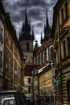 Dark Prague, Czech Republic,,love the Gothic atmosphere. Places To Travel, Places To See, Wonderful Places, Beautiful Places, Places Around The World, Around The Worlds, Bósnia E Herzegovina, Europe Centrale, Prague Travel
