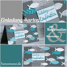 Nr. 5 - Einladungskarten zur Konfirmation / Kommunion - Materiallinks zur Musterkarte First Communion, Paris Travel, Sewing Crafts, Stampin Up, Religion, Scrapbook, Crafty, Cards, Handmade