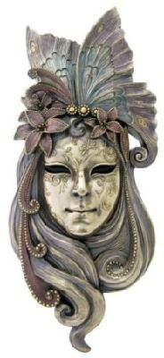 Large Art Nouveau Colorful Venetian Mystique Butterfly Mask Decorative Wall Plaque