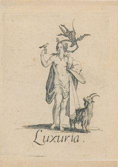 "Virtudes, Vícios E Pecados...   ""Luxúria"", Jacques Callot"