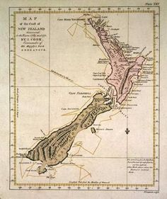 Captain Cook map of New Zealand