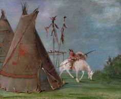 Comanche Lodge of Buffalo Skins. 1834-1835.  George Catlin. Smithsonian American Art Museum  Gift of Mrs. Joseph Harrison, Jr.  1985.66.493.