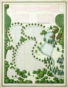 Grand scale garden design with privacy berms and a small for Pool garden leipzig