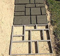 Vinus Pathmate Concrete Stepping Stone Mold Garden Paver Walk Maker, Brick Pattern