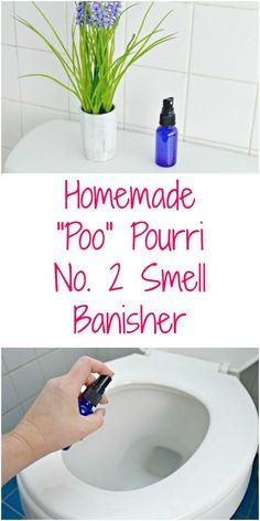 Homemade Poo Pourri Bathroom Odor Banisher - Easy to make bathroom stink neutralizer. via @Mom4Real