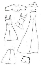 Lots of Barbie clothes patterns