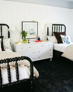 0aabd1e3f9ea Is there anything sweeter than a pair of Jenny Lind beds  Love these black  mahogany