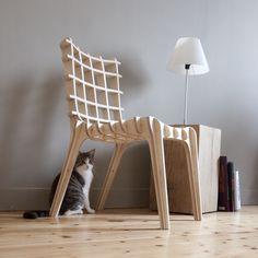 Exercice : chaise par emboitement de multiplis de bouleau