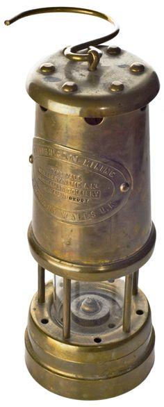 Hughes Bros Scranton Pa Miner Mining Safety Davy Lamp