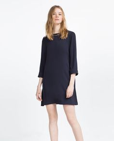 Image 1 of STRAIGHT CUT CHAIN DRESS from Zara
