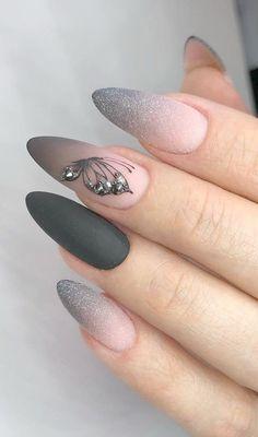 Bright Nail Designs, Long Nail Designs, Ombre Nail Designs, Winter Nail Designs, Nail Art Designs, Nails Design, Gel Nagel Kit, Nagel Gel, Shiny Nails