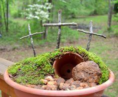 jesus' empty tomb - Easter Garden tutorial (Empty tomb garden) - The Frugal Homemaker