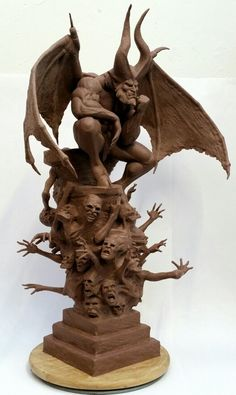 Monster Clay sculpt based on artwork from Simon Bisleys Paradise Lost