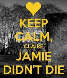 Keep Calm Claire #outlander #dianagabaldon #Jamie