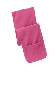 This scarf does more than keep you warm--it has two 9-inch deep pockets to hold your cell phone, keys, coins and more.| 100% polyester fleeceAnti-pill finish for lasting wearDyed-to-match overlock sti