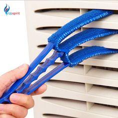 2016 جديد تنظيف النوافذ 3-blades فرش أداة متعددة الوظائف تكييف الهواء النظيف مصراع المنزل الغبار تنظيف فرشاة