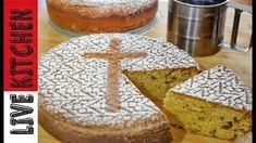 #2 Ταπεινή Φανουρόπιτα με 7 Υλικά!! Vegan  Cake with raisin and walnuts Greek Sweets, Greek Desserts, Greek Recipes, Greek Bread, Greek Cake, Cooking Cake, Cooking Recipes, Low Calorie Cake, Greek Cooking